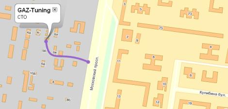 «Схема проезда» на Яндекс.Картах